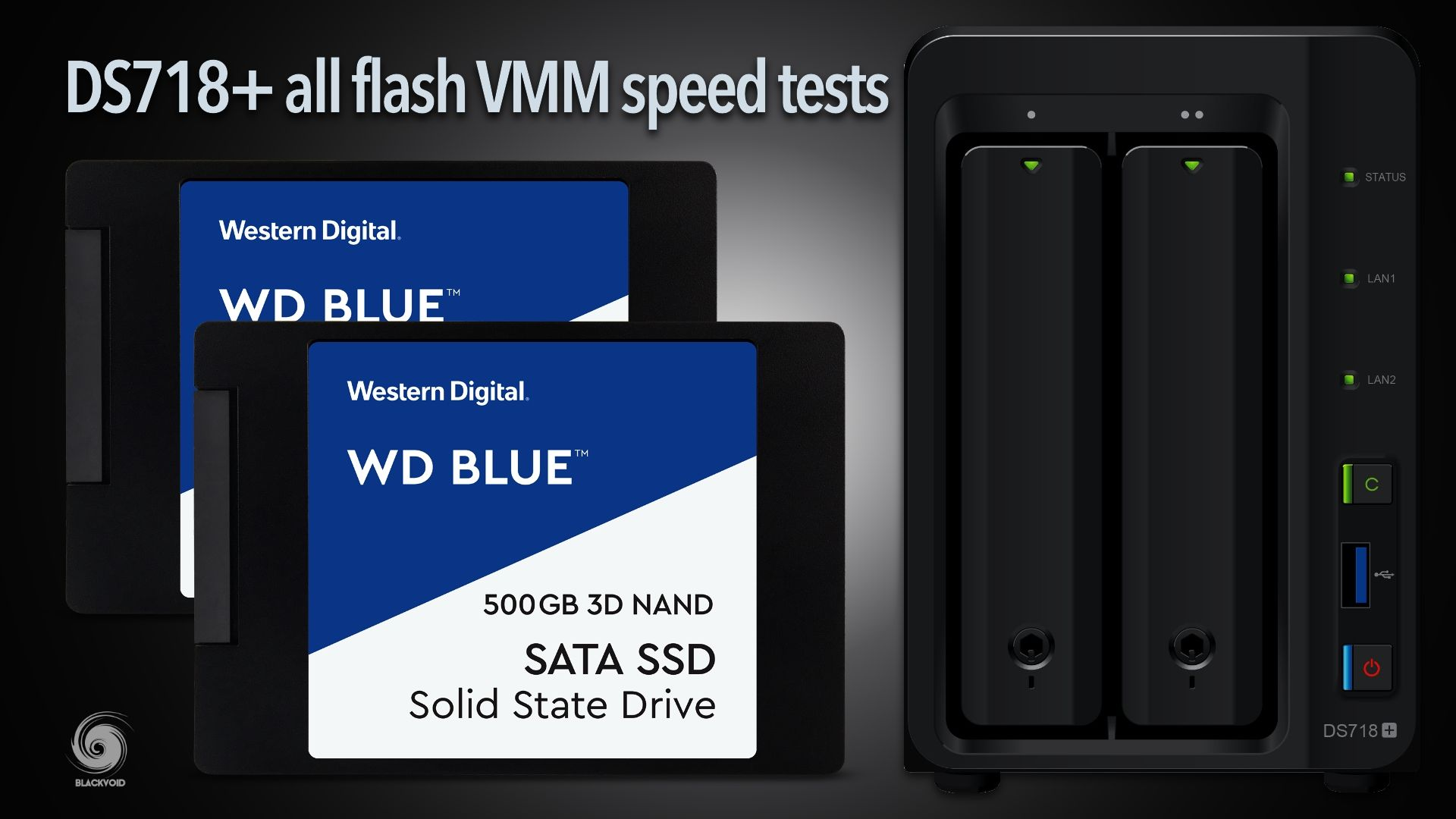 DS718+ all-flash VMM speed tests