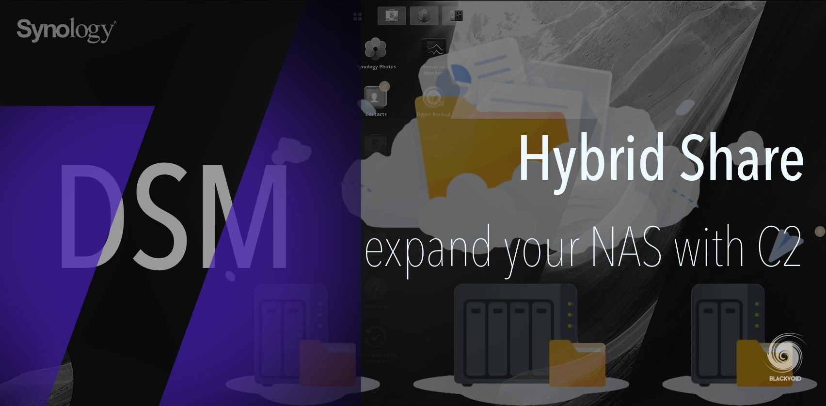 DSM 7 - Hybrid Share, expand your NAS to Synology C2