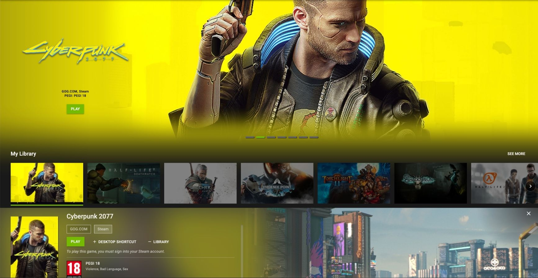 Cyberpunk 2077 on nVIDIA GeForceNOW!