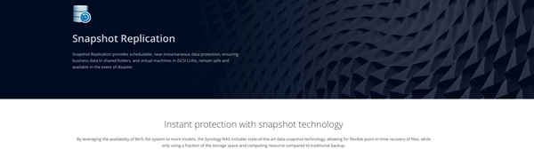 Snapshot & Replication - Synology's business backup and recovery tool
