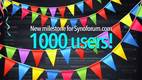 New Synoforum milestone, 1000 users!