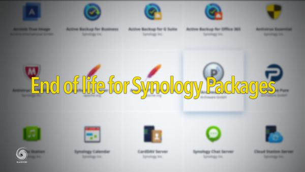 End of life for some Synology packages